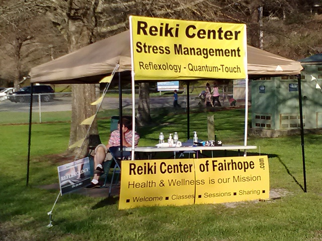 Reiki Center Kiosk at Fairhope Pier